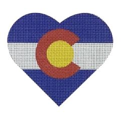 click here to view larger image of Colorado Flag Heart (hand painted canvases)