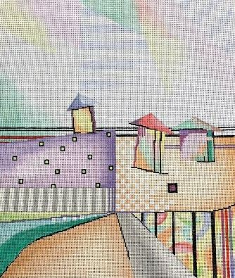click here to view larger image of Beach Town (hand painted canvases)