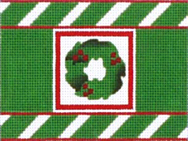 click here to view larger image of Christmas Wreath Cracker (hand painted canvases)