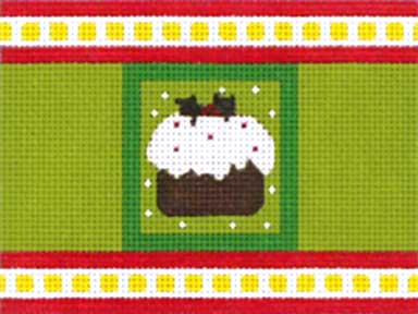 click here to view larger image of Christmas Pudding Cracker (hand painted canvases)