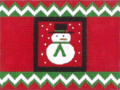 click here to view larger image of Christmas Snowman Cracker (hand painted canvases)