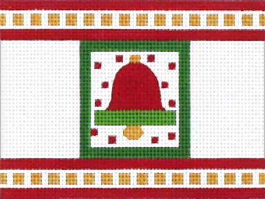 click here to view larger image of Christmas Bell Cracker (hand painted canvases)