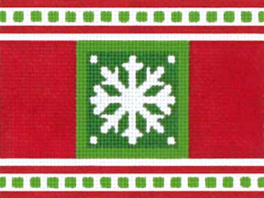 click here to view larger image of Christmas Snowflake Cracker (hand painted canvases)