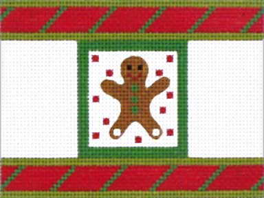 click here to view larger image of Christmas Gingerbread Man Cracker (hand painted canvases)