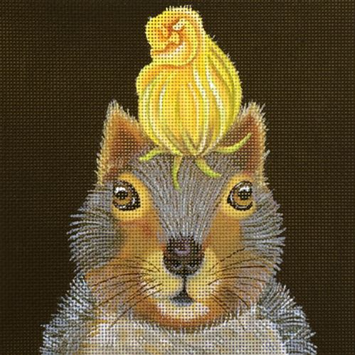 click here to view larger image of Squash Blossom Squirrel (hand painted canvases)
