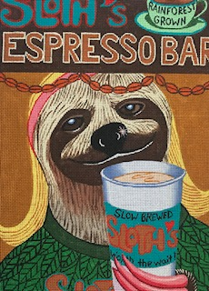 click here to view larger image of Barrista (hand painted canvases)