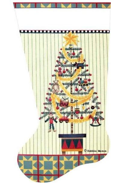 click here to view larger image of Toyland Tree Sock (hand painted canvases)