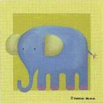 click here to view larger image of Blue Elephant (hand painted canvases)