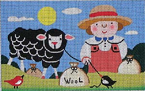 click here to view larger image of Baa Baa Black Sheep (hand painted canvases)