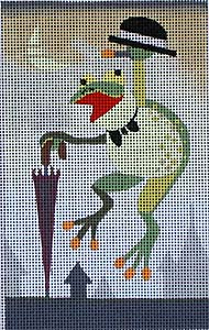 click here to view larger image of London Frog (hand painted canvases)