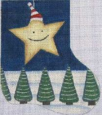 click here to view larger image of Happy Christmas Star (hand painted canvases)