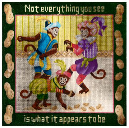 click here to view larger image of Dancing Monkeys, The - Aesops Fables (hand painted canvases)