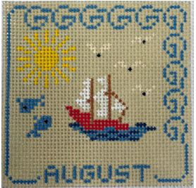click here to view larger image of August (hand painted canvases)