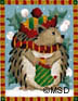 click here to view larger image of Woodland Ornament - Hedgehog  (hand painted canvases)