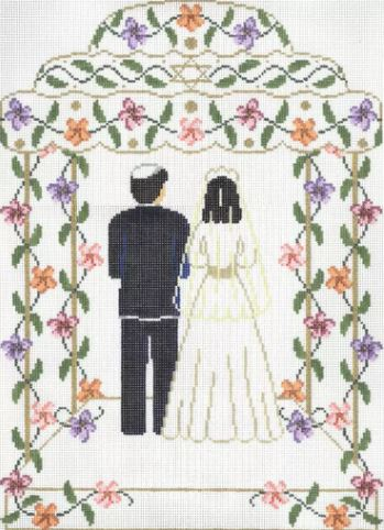 click here to view larger image of Chupa Couple Floral (hand painted canvases)