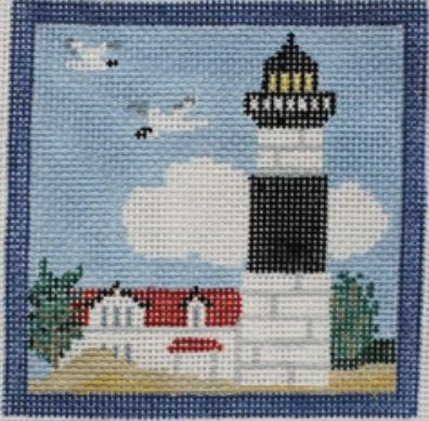 click here to view larger image of Big Sable MI Lighthouse Coaster (hand painted canvases)