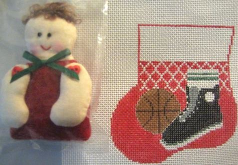 click here to view larger image of Basketball w/Sports Kid (hand painted canvases)