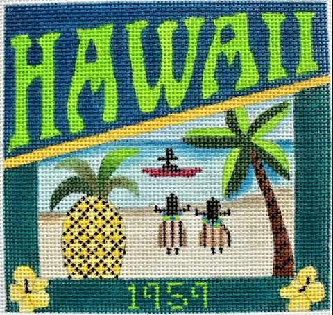 click here to view larger image of Postcard - Hawaii (hand painted canvases)