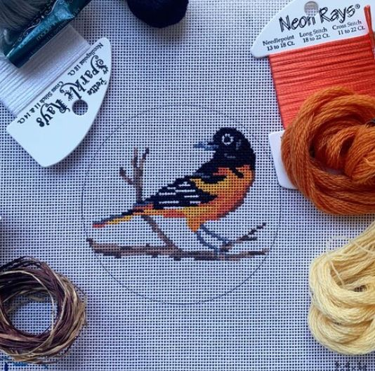click here to view larger image of Baltimore Oriole (hand painted canvases)