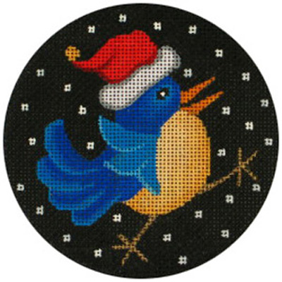 click here to view larger image of Santa Bird Ornament (hand painted canvases)
