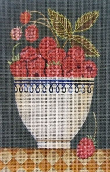 click here to view larger image of Cup of Raspberries (hand painted canvases)
