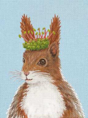 click here to view larger image of Alex Red Squirrel (hand painted canvases)
