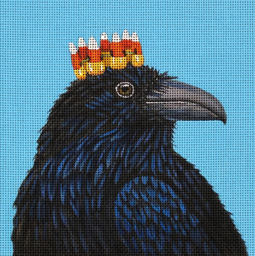 click here to view larger image of Candy Corn Crow (hand painted canvases)