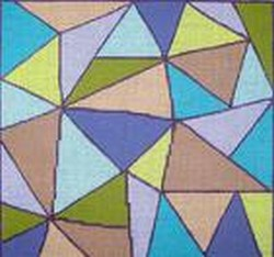 click here to view larger image of Aqua Angles (hand painted canvases)