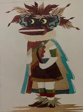 click here to view larger image of Black Ogre Kachina (hand painted canvases)