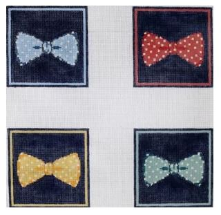 click here to view larger image of Bow Ties (hand painted canvases)