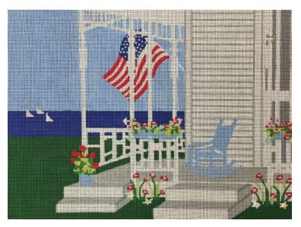 click here to view larger image of Cape Cod Porch in Summer (hand painted canvases)