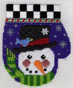 click here to view larger image of Frosty Mitten  (hand painted canvases)