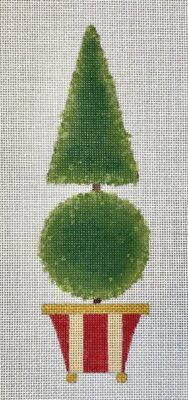 click here to view larger image of Cone Topiary (hand painted canvases)