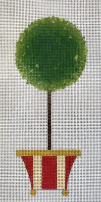 click here to view larger image of Ball Topiary (hand painted canvases)