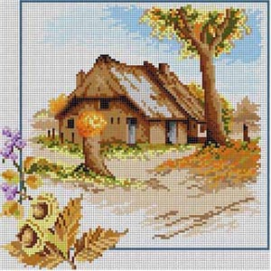 click here to view larger image of Autumn Scene (hand painted canvases)