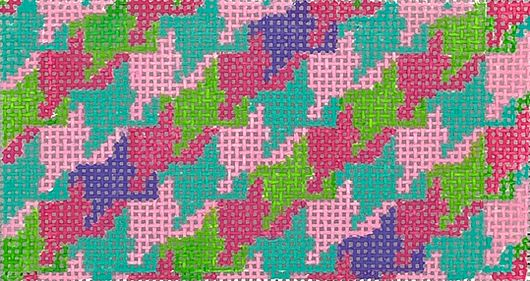 click here to view larger image of Houndstooth Insert - Bright Pastels (hand painted canvases 2)