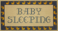 click here to view larger image of Baby Sleeping Duck Border (hand painted canvases)