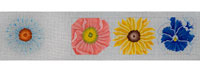 click here to view larger image of Big Bright Flowers Treasure Box (hand painted canvases)