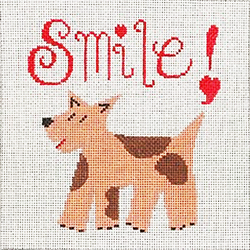 click here to view larger image of Smile - Doggie (hand painted canvases)