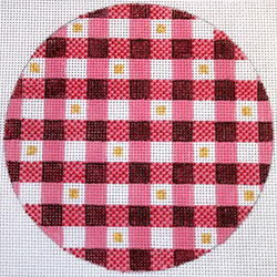 click here to view larger image of Red/White Gingham (hand painted canvases)