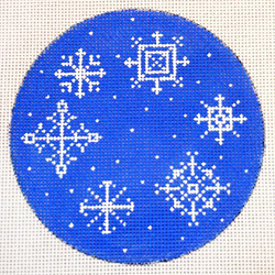 click here to view larger image of Snowflakes (hand painted canvases)