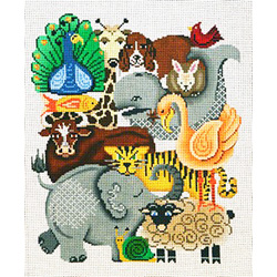 click here to view larger image of Animal Collage A (hand painted canvases)