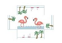 click here to view larger image of Brick Cover - Flamingos (hand painted canvases)