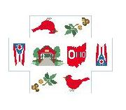 click here to view larger image of Brick Cover - Ohio (hand painted canvases)