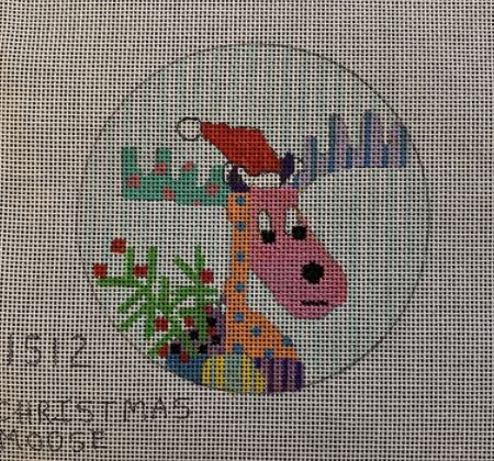 click here to view larger image of Christmas Moose - 1512 (hand painted canvases)