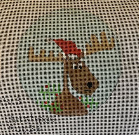 click here to view larger image of Christmas Moose - 1513 (hand painted canvases)