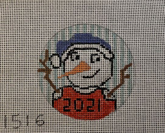 click here to view larger image of 2021 Snowman (hand painted canvases)