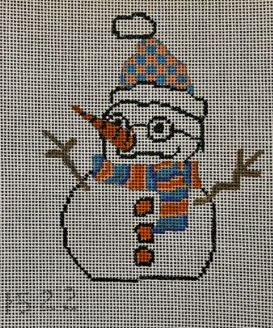 click here to view larger image of Snowman w/Glasses (hand painted canvases)