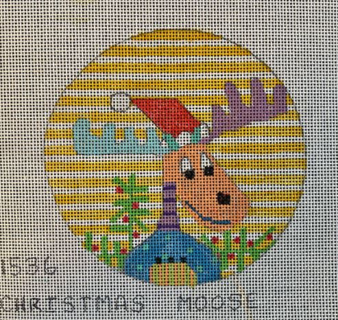 click here to view larger image of Christmas Moose - 1536 (hand painted canvases)