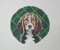 click here to view larger image of Beagle Round (hand painted canvases)